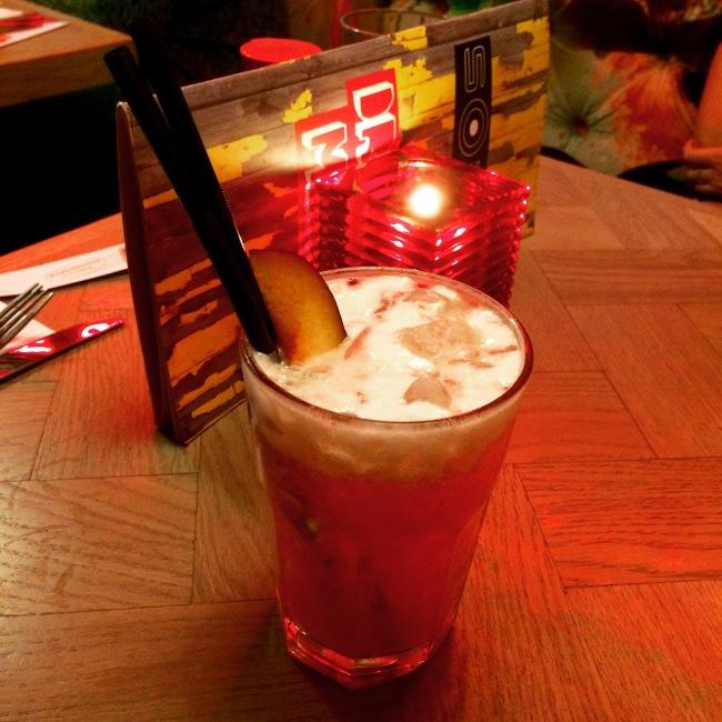 An experimental plum cocktail